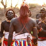 Masai warriors at Saruni Samburu