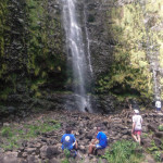 Hikers at Waimoku Falls in Maui. Photo by Gina Kremer